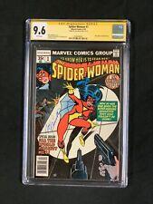 Spider-Woman #1 CGC 9.6 SS JOE SINNOTT New Origin of SPIDER-WOMAN Marvel Not 9.8