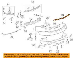 Cadillac GM OEM SRX Rear Bumper-Step Pad Protector Guard Sill Plate 22875126