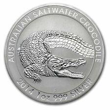 1 oz silver coin - 2014 Australian Saltwater Crocodile - Perth Mint  *UK SELLER*