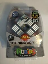 Rubik's Revolution Titanium Edition #3050 ELECTRONIC PUZZLE CUBE - NEW 6 Games