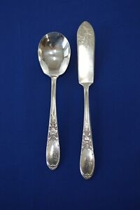 Wm Rogers IS Burgundy Aka Champaigne 1934 Master Butter Knife & Sugar Spoon