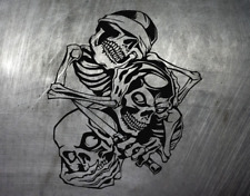 Totenkopf Skull Oldschool Hand Aufkleber Auto Style Sticker JDM Bike Lkw Tattoo
