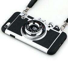 3D CAMERA DESIGN New Cute Phone Cover Case w Strap Accessories For iPHONE 7 PLUS