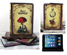 For New iPad Mini 1 2 3 Authentic Vintage Alice In Wonderland Design Case Cover
