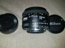 Classic Nikon AF-S Nikkor 50mm 1:1.8  Camera Lens 2 caps V good con