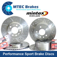 Vauxhall Astra VXR 2.0T  mk5 Front Rear Drilled Grooved Brake Discs Mintex Pads