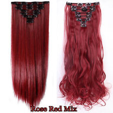 Real Thick Clip In On Hair Extensions 18 Clips 100% Real As Human Hair Ombre PDR