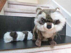 "2001 Hansa plush life size Raccoon long tail w/ tag 10 x 29"" w/ tail 10 x 13 w/o"