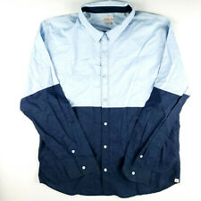 Walker Refinery 2XL Shirt Colorblock Blue Mens 2-Tone Casual Button Lightweight