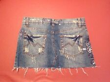 """Duchesse Luxury"" Women's Denim Skirt With Bling Size 1 Great Condition"