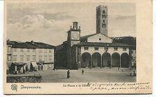 1903 Impruneta La Piazza e la Chiesa destinazione Napoli FP B/N VG ANIM