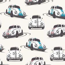 Cars Wallpaper Motoring Speed Bug White Multicoloured Retro Muriva 601511-E