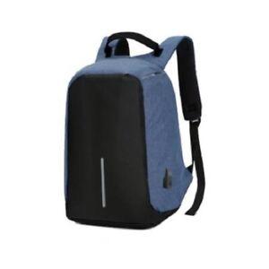 Backpack, Laptop Bag, USB Charging Interface Secret Pocket Anti-Theft - Blue