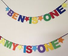 Personalised 1st Birthday Party Bunting Banner First Birthday multi coloured UK*