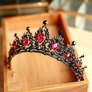 Champagne Gold Queen Tiara Crown Wedding Bridal Party Prom Pageant 8 Colors