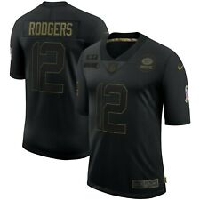 Aaron Rodgers Green Bay Packers Nike 2020 Salute To Service Limited Jersey–Black