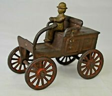 """Vintage Cast Iron Early Auto 3 7/8"""" Long Good Condition With Some Issues"""