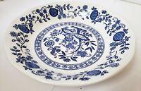 "Vintage Enoch Wedgwood Blue Onion Coupe Soup Bowl 7-1/2"" England Blue & White"