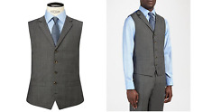 Chester Barrie Prince of Wales Check Suit Waistcoat, Grey BNWT Size 42R RRP £100