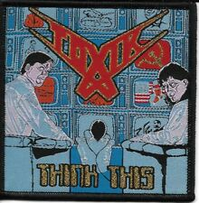 TOXIK-THINK THIS-WOVEN PATCH-SPEED-THRASH METAL