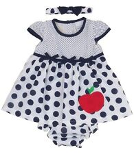 BabyPrem Baby Girls 9-12 12-18 18-24 months Dress Navy Summer Outfit with Pants
