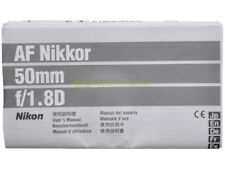 Manuale cartaceo originale per Nikon AF Nikkor 50mm. f1,8 D.