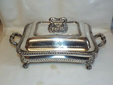 More details for antique old sheffield plate warming dish and cover