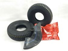Pair of  3.00-4 (260x85) Black Block Tread Mobility Scooter Tyres & Tubes