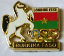 2012 LONDON Olympic BURKINA FASO NOC Internal team - delegation dated pin