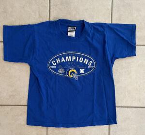 VTG - St. Louis Rams Super Bowl XXXIV Champion SS Shirt Pro Player - Youth 10/12