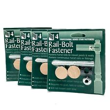 NEW Rail-Bolt Fastener with Plugs Professional Series 4 Packages Coffman Stairs
