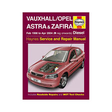 Vauxhall Astra Zafira Haynes Manual 1998-04  1.7 2.0 Diesel Workshop Manual