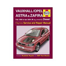 Vauxhall Astra Zafira 1.7 2.0 Diesel 1998-2004 (R to 04 Reg) Haynes Manual