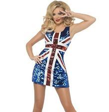 Smiffys 1889963 Fever All That Glitters Rule Britannia Adult Costume Small 6-8