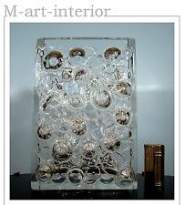 WMF Bubble Design Blockvase Noppen Glas Vase 2,4kg German Art Glass 60er