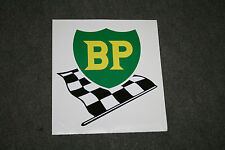 BP Logo With Chequered Flag Self-adhesive Vinyl Decal for Petrol Bowser / Pump