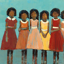 The Dance by Rebeca Kinkead Children African American Print Poster 24x24