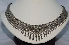 $80,000 20.74CT NATURAL DIAMOND CLUSTER NECKLACE 18K WHITE GOLD!