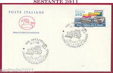 ITALIA FDC CAVALLINO LAVORO ITALIANO PER IL MONDO OLIVETTI 1986 IVREA TO Y356