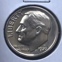 USA 1970 S Roosevelt Dime Proof PP Sehr Selten Polierte Platte San Francisco