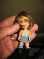 """Vintage 1965 Mattel 3"""" Japan 5 Doll B162 head Liddle Kiddies?"""
