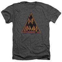 Def Leppard Rock Band DISTRESSED LOGO Licensed Adult Heather T-Shirt All Sizes