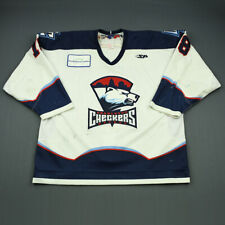 2009-10 Daniel Tkaczuk Charlotte Checkers Game Used Worn ECHL Hockey Jersey