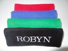 PERSONALISED CAR BELT SEAT COVER - ANY NAME / TEXT / & COLOUR OF THREAD