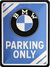 BMW Parking Only geprägt 15x20 Blechschild Vintage M69