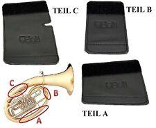 Hochwertiger Handschutz / Schoner für Tenorhorn aus Echtleder