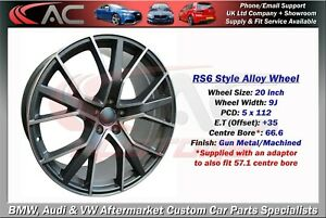 """20"""" INCH RS6 STYLE ALLOY WHEEL - FIT VW & AUDI A4 A5 A6 + MORE 5x112"""