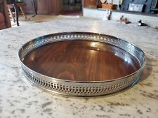 """THE SHEFFIELD SILVER CO 12 1/2""""   GENUINE FORMICA ROUND TRAY MID CENTURY MOD"""