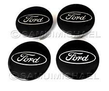 Centro De Rueda De Ford Negro Aleación Tapas Set 54MM-Focus/Mondeo/Fiesta/Ka Etc