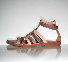 $175 New Naya Zamira Gladiator Inspired Flat Leather Strap  Shoe sz 10 Narrow